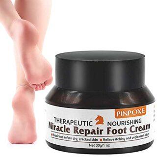 Crema para el cuidado de los pies, para pieles quebradizas y secas, cu...