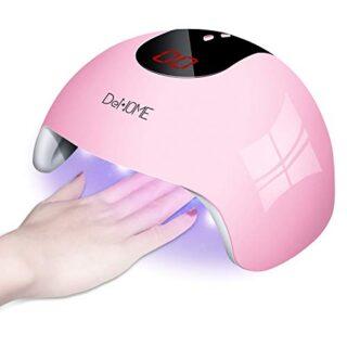 DeNOME Lámpara LED UV Uñas Profesional Maquillaje Uñas/Sensor para uña...