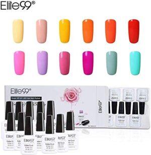 Elite99 Esmalte Semipermanente UV LED 12pcs Kit Uñas de Gel Pintauñas ...