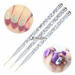 JUNGEN 3pcs Kit de decoracion de uñas Cepillo de detalle de uñas para ...