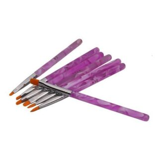 Juego de 7 Pinceles Pintauñas UV Gel parara Decorar Uñas Nail Art Deco...