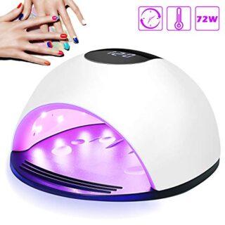 Lámpara LED UV Uñas, Nivlan 72W Lámpara LED Uñas Pantalla LCD Secador ...