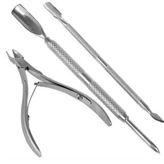 La cutícula del clavo empujador de la cuchara removedor de uñas Cortar...