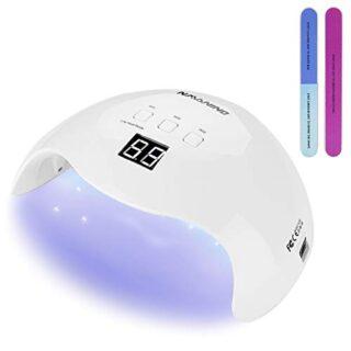 NAVANINO Lámpara Secador de Uñas, LED/UV Gel Esmalte de Uñas Curado Lu...