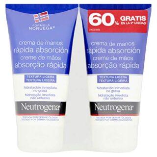 Neutrogena Crema De Manos Rápida Absorción - 2 Unidades x 75 ml.