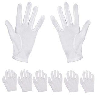 Pack de 6pares de guantes hidratantes Aboat, de algodón blanco, para ...