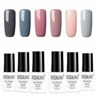ROSALIDN esmalte semi-permanente para uñas kit, 6pcs/lot Color desnudo...