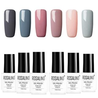 ROSALIDN esmalte semi-permanente para uñas kit, 6pcs/lot Color desnudo...