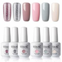 ROSALIND 15ml Esmaltes Semipermanentes de Uñas en Gel UV LED, Nude Pin...