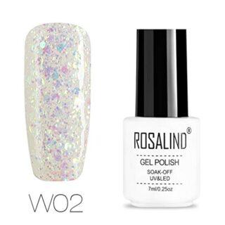 ROSALIND Esmalte semi-permanente de uñas de gel con purpurina de diama...