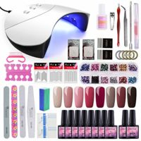 Saint-Acior 36W UV Lámpara LED Secador de Uñas kit Uñas de Gel 8pcs Es...