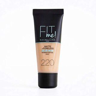 Maybelline Fit Me Base de Maquillaje Mate, Sin Poros, 220 Beige Natura...