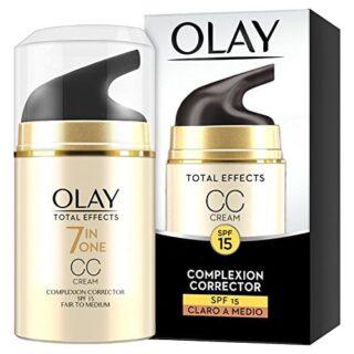 Olay Total Effects 7 en 1 CC Cream Anti-Edad Correctora de Tono Claro ...