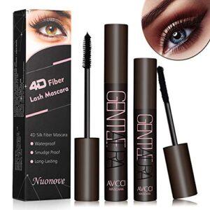 4D Silk Fiber Eyelash Mascara, 4D Mascara, 4D Máscara de Pestañas de F...
