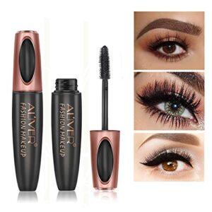 4D Silk Fiber Eyelash Mascara, Extra Long Lash Mascara Waterproof Not ...