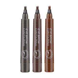Eyebrow Tattoo Pen, 3 colores Tattoo Augenbrauenstift, Waterproof Long...