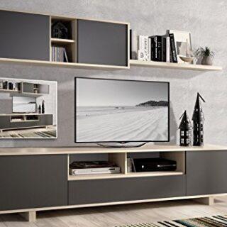 EXCLUSIBE LIQUIDATODO ® - Muebles de Salon Modernos Color Cambrian/Gra...
