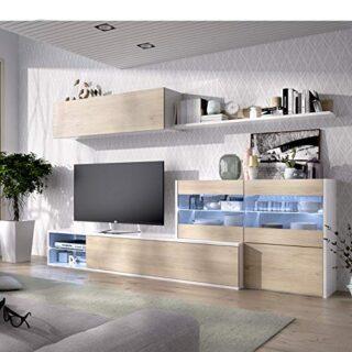 HABITMOBEL Mueble de Comedor, Mueble Salon con Leds, Medidas: 180x260x...