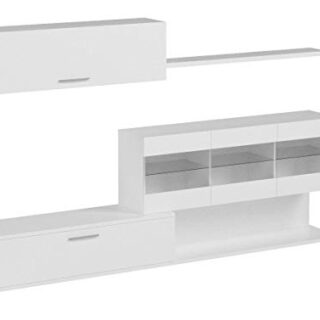 Habitdesign 036676BO - Mueble de Comedor, Mueble Salon con Leds, Medid...