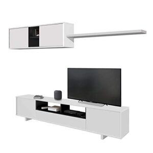 Habitdesign 0T6682BO - Mueble de Comedor Moderno, Color Blanco Brillo ...