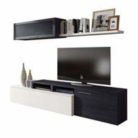 Habitdesign - Mueble de salón Comedor Moderno, Medidas: 200x41/34x43 c...