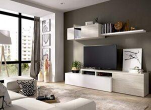 LIQUIDATODO ® - Salón de diseño 200 cm moderna y barata en blanco bril...