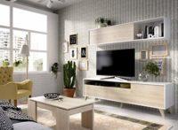 LIQUIDATODO ® - Salón nordico 180 cm moderno y barato en natural y bla...