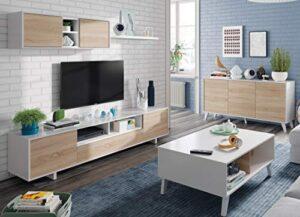 Miroytengo Conjunto Salon Comedor Estilo Moderno Mueble Modular Televi...
