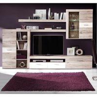NKR - C075E0049 - Composicion Salon con Leds Modelo Frame, Color Roble...