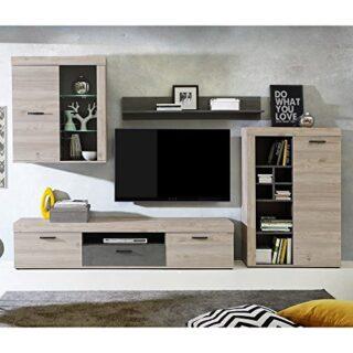 NKR - C075E0071 - Composicion salon modelo Valentin, color Roble Nelso...