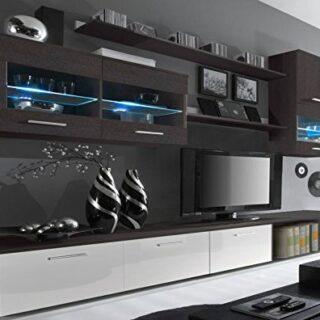 SelectionHome - Salón Moderno, Comedor con Luces Leds, Acabado en Blan...