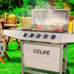 CCLIFE Carro Barbacoa de Gas Parrilla Barbacoa Gas con 3/4/5/6 quemado...