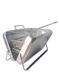 Chapuis bapig barbacoa portátil de carbón con asa de transporte acero ...