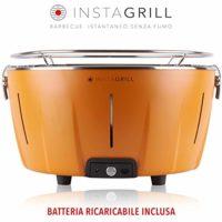 Clase Italia InstaGrill - Barbacoa de carbón sin humo, naranja