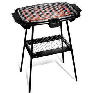 Cuisinier Deluxe Electric BBQ con pies de soporte y termostato ajustab...