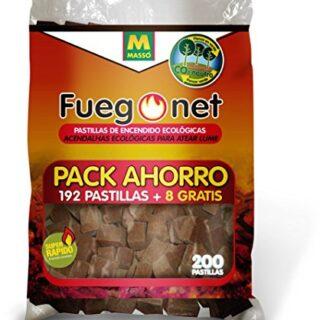 FUEGO NET Fuegonet 231281N Pastillas Ecológicas, Blanco, 27x7x40 cm