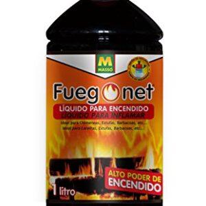 Fuegonet 231198 Liquido para Encendido, Negro, 7.2x27x7.2 cm