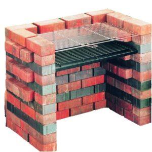 Landmann 528 - Parrilla de carbón, Color Rojo