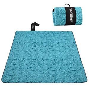 Yorbay Manta de Picnic 200 x 200 cm Impermeable con asa para Camping P...