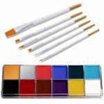 Alexsix 12 Colors Face Body Paint Kit, Professional Painting Halloween...