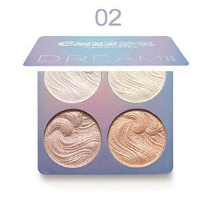 Baked Highlighter Palette Paleta de maquillaje en polvo para contorno ...