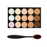 Boolavard® TM 15 Shades Colour Concealer Makeup Palette Kit Make Up Se...