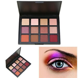 Cosmeticos Maquillaje Paleta de Sombras de Ojos, AMBITO 12 Colores Pal...