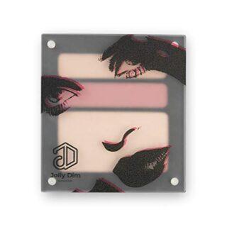 Jolly Dim Makeup - Set de ojos e iluminador Natural: 1 iluminador + 2 ...