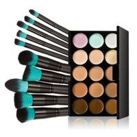 LEORX Face Contour Kit marcador maquillaje Kit 15 paleta crema correct...