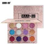 Maange Sombras de Ojos Paletas de Maquillaje de 12 Colores Sombras de ...