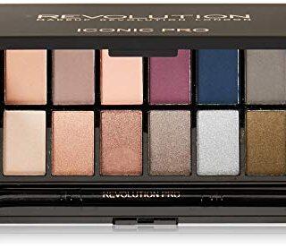 Makeup Revolution Salvation Eyeshadow Palette Iconic Pro 2 Paleta 16 c...