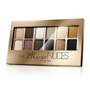 Maybelline New York The 24 Karat Nudes, Paleta de Sombras de Ojos