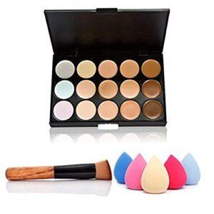 Ndier 15 colores de maquillaje Concealer Crema Contorno Kit mancha de ...