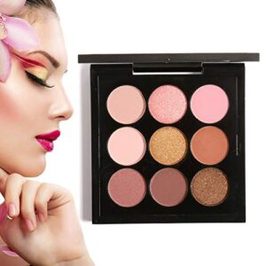Paleta de sombra de ojos, 9 colores Maquillaje Set Larga duración bril...